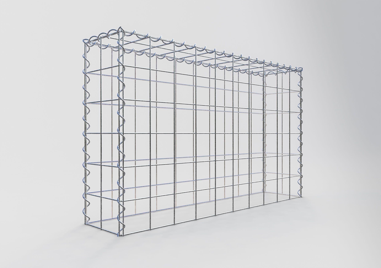ANBAU-GABIONE Typ3 Steinkorb 100 x 100 x 50 cm Maschenweite 5 x 10 cm Gabionen